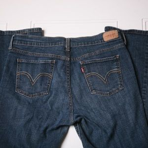 Levis 515 Boot Cut Dark Wash